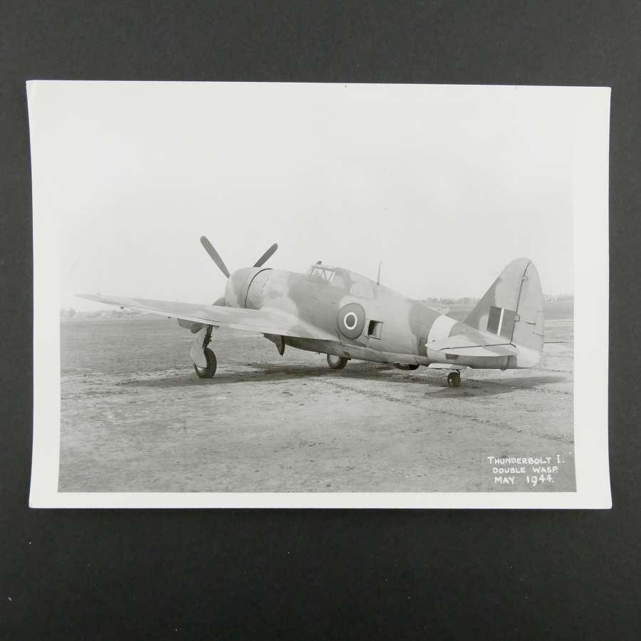 Official photograph Thunderbolt I, 1944