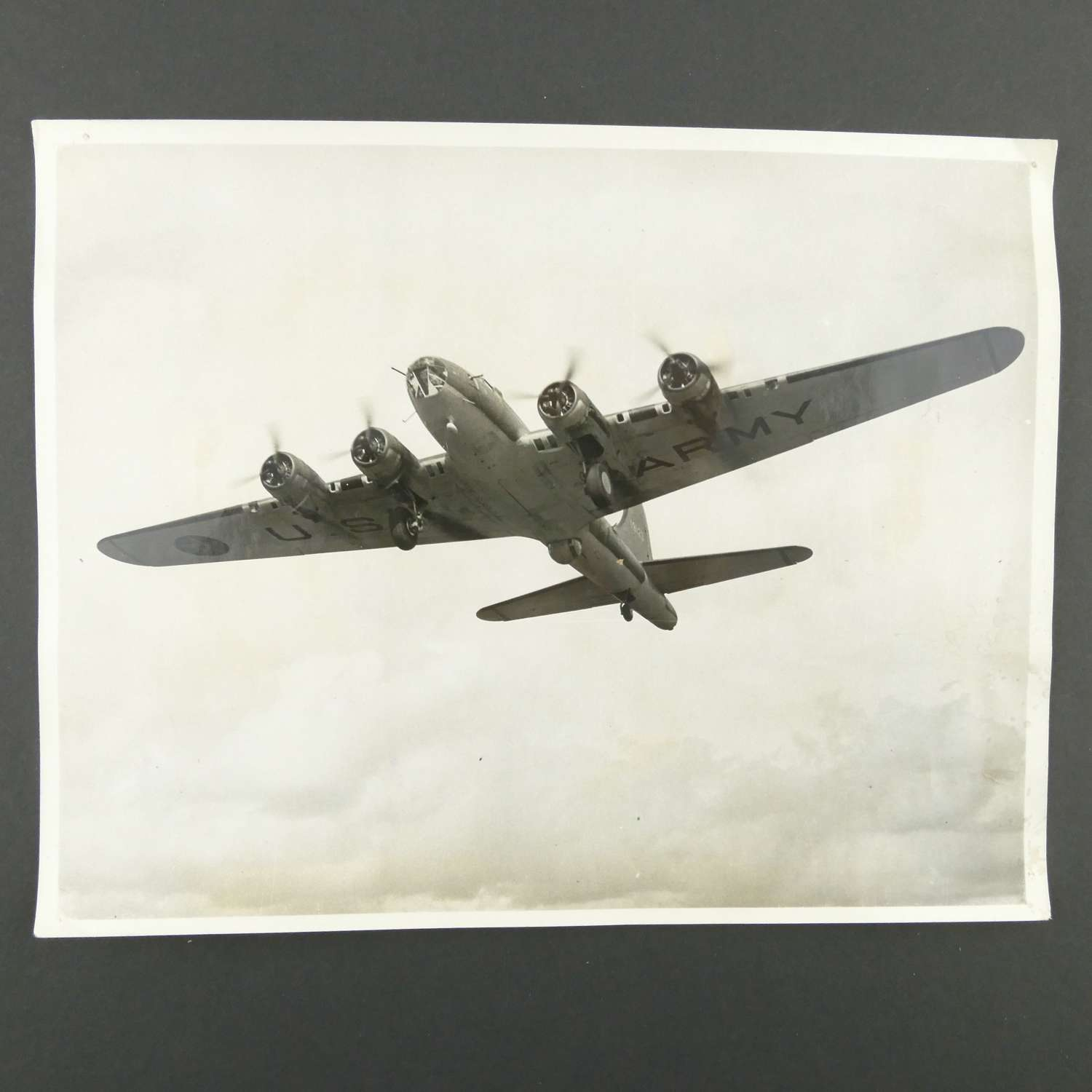 Press photograph - B-17 on USAAF station in England