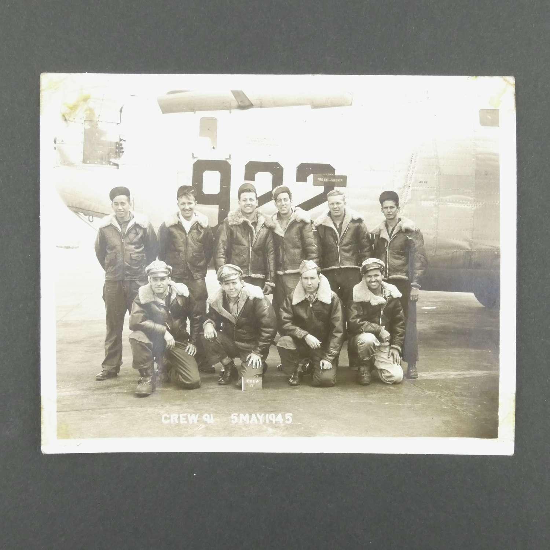 Original USAAF B-24 crew photograph