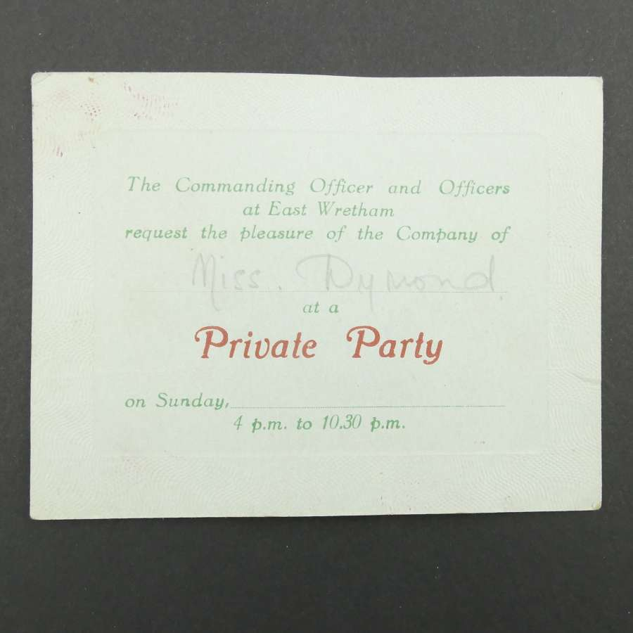 USAAF party invitation