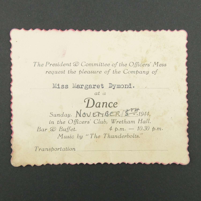 USAAF dance invitation, 1944