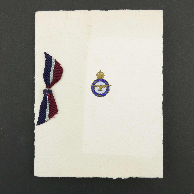 RAF 501 Squadron Christmas card #1