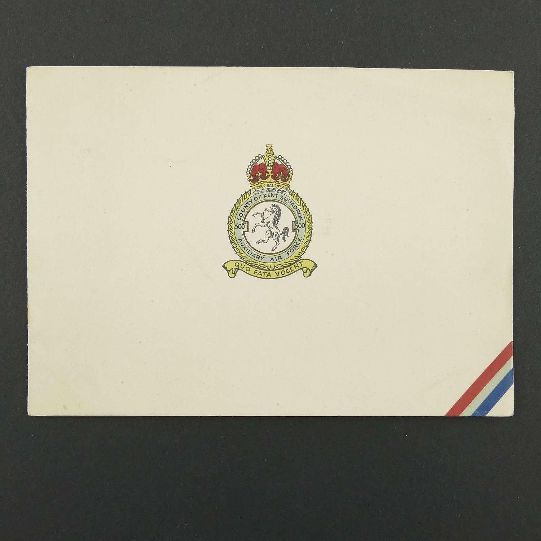 RAF 500 Squadron Christmas card