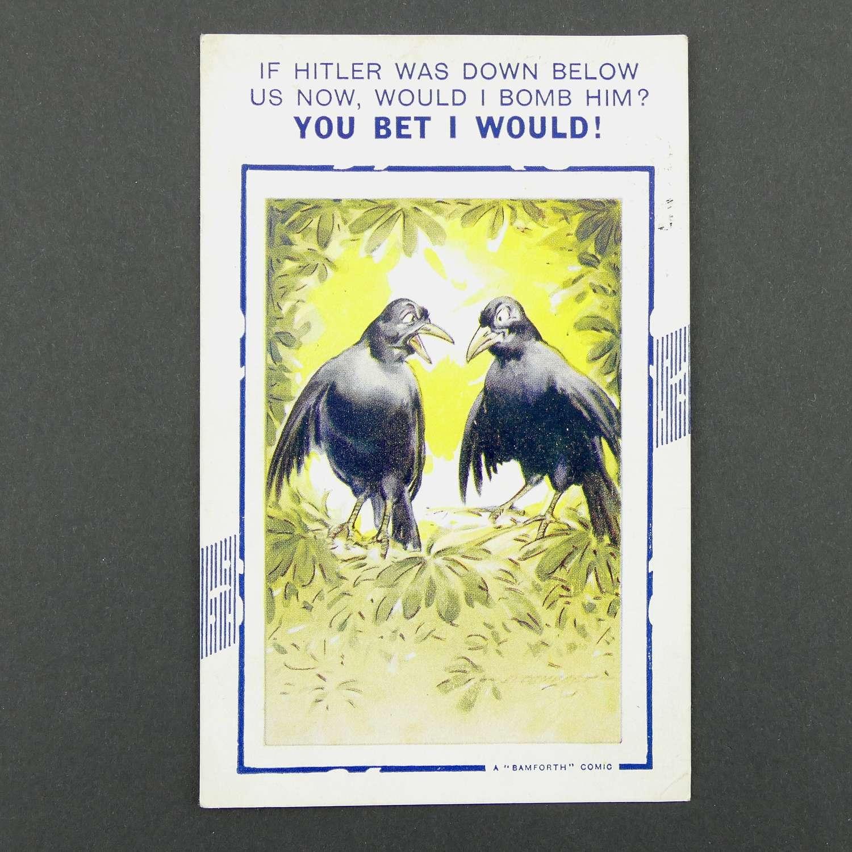 Anti Hitler postcard, 1940