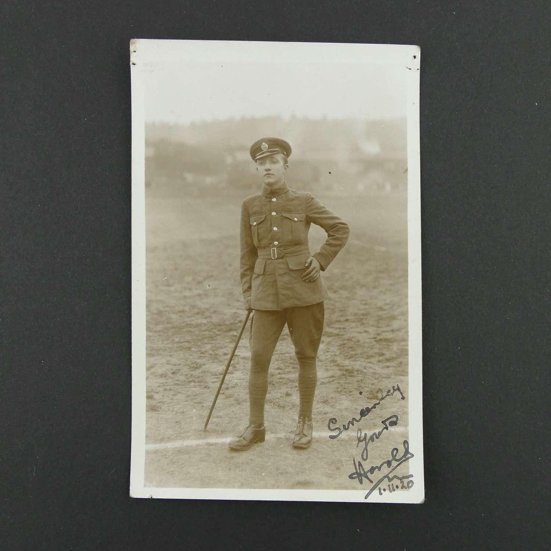 Postcard - other ranks RAF airman c. 1920