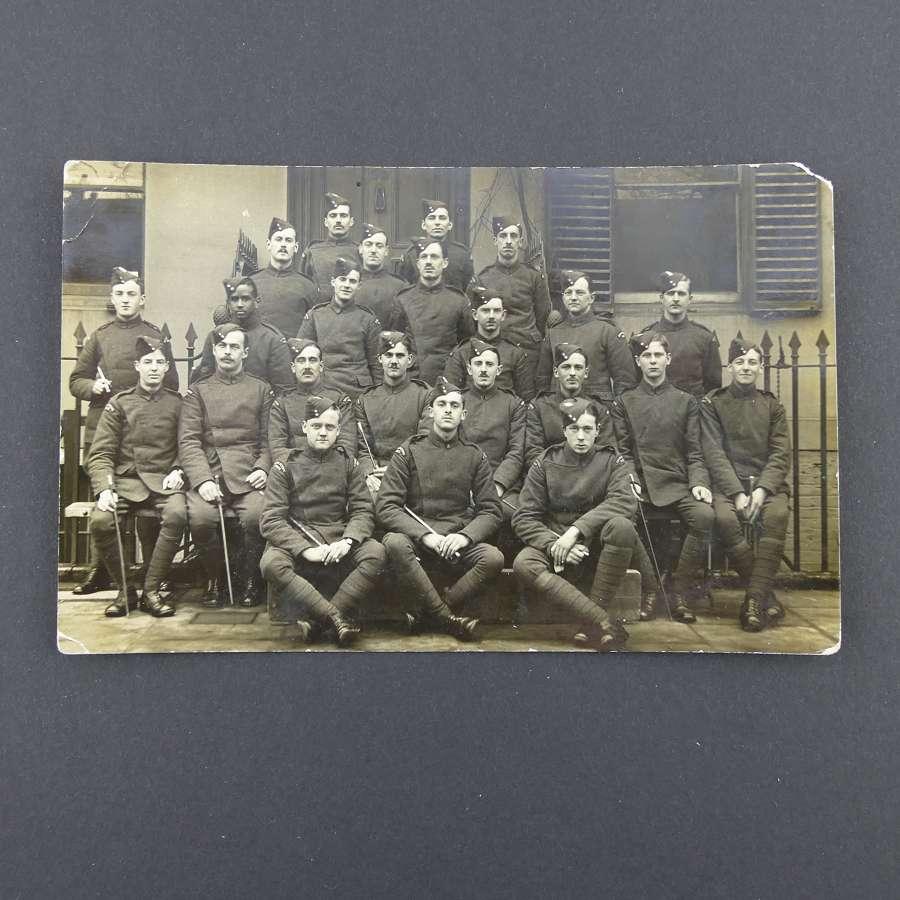 WW1 photograph postcard - RFC airmen