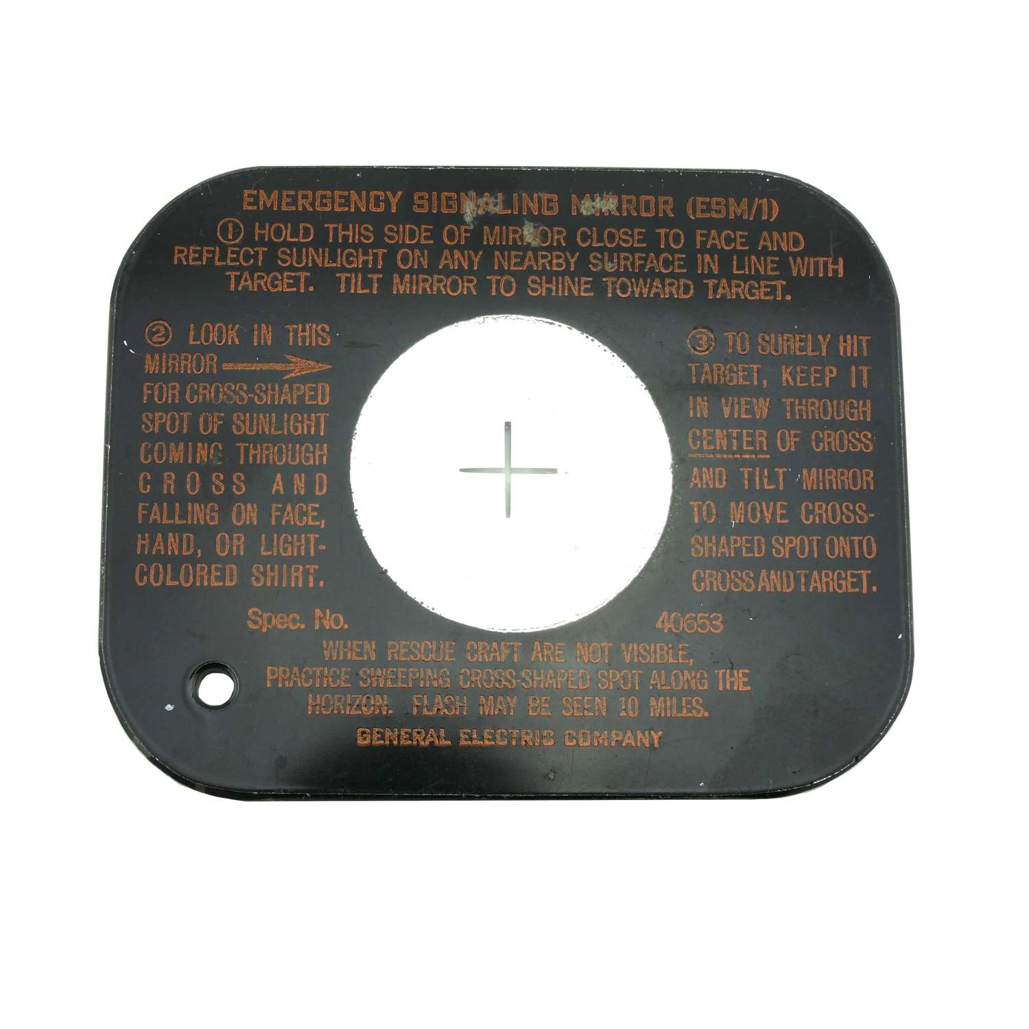 USAAF ESM/1 emergency signal mirror