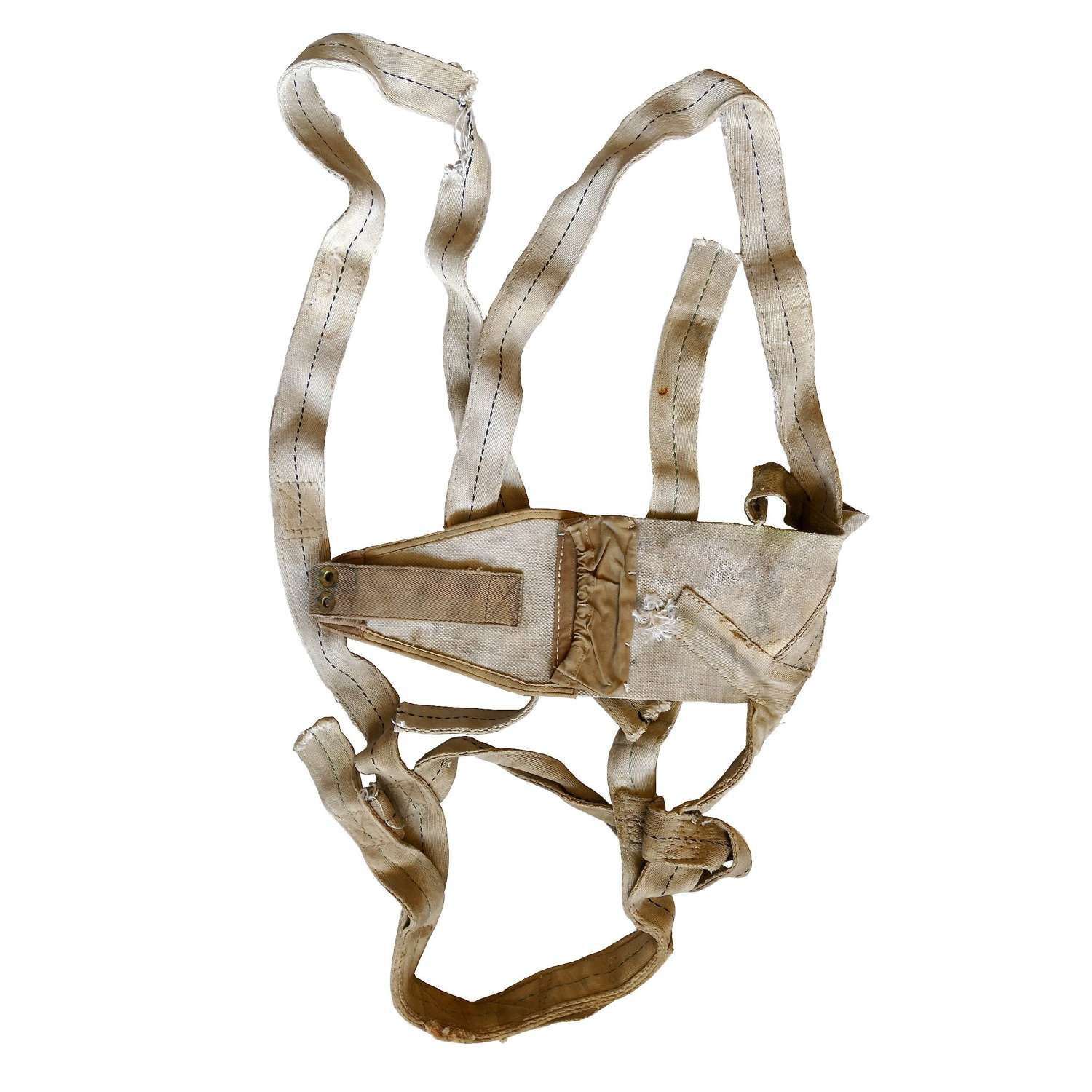 RAF seat type parachute harness - relic