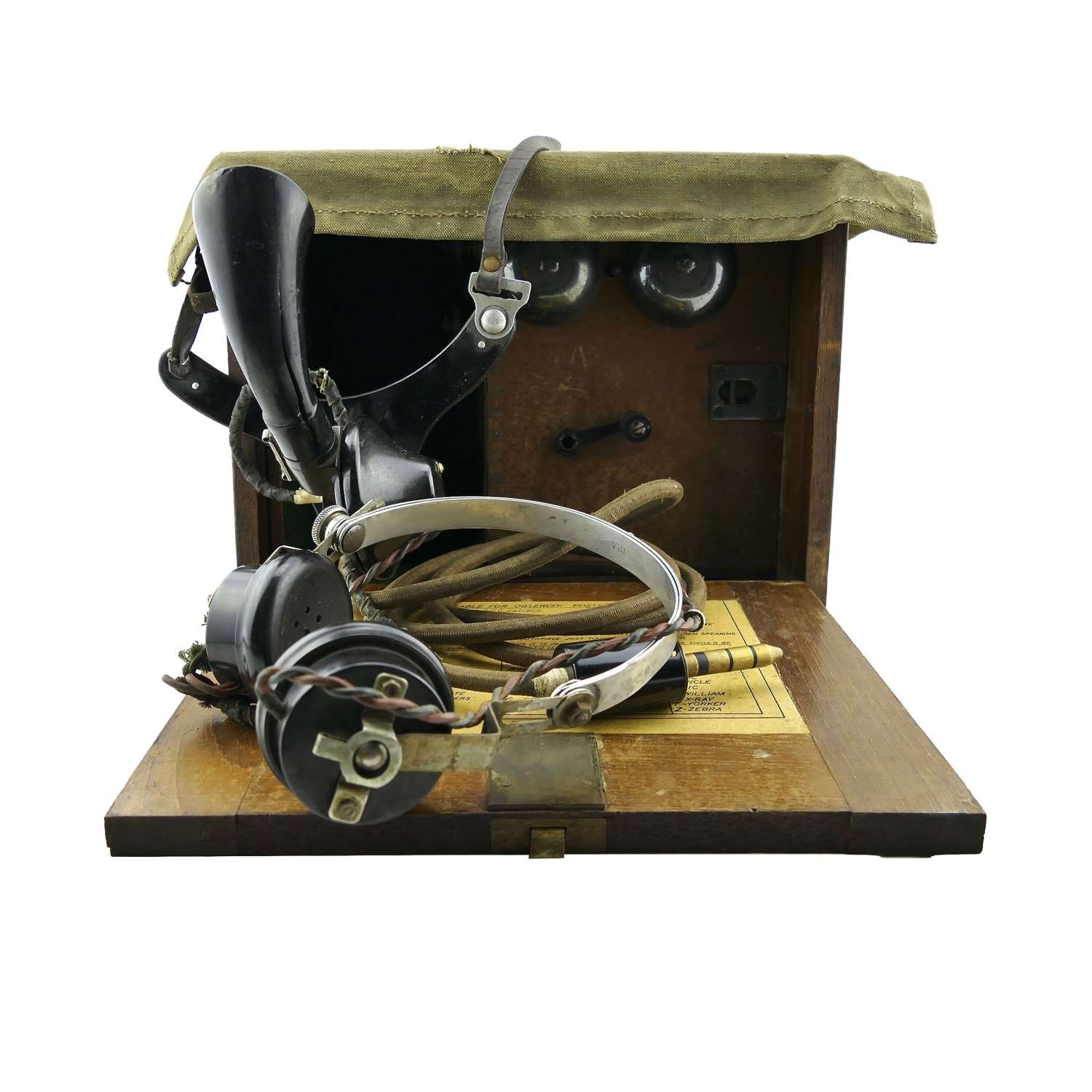 Royal Observer Corps RAF portable telephone