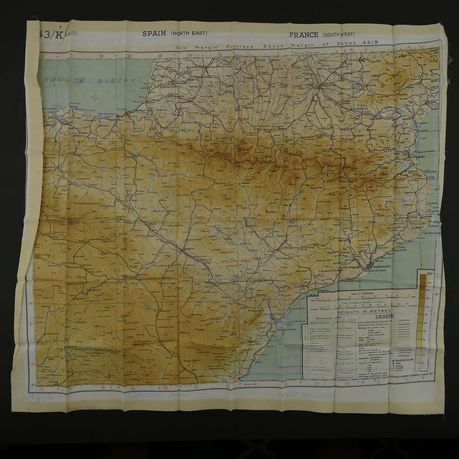 RAF escape & evasion map, sheet 43JK, European
