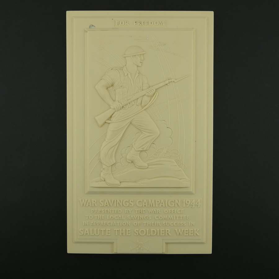 War Savings Campaign - Salute the Soldier plaque