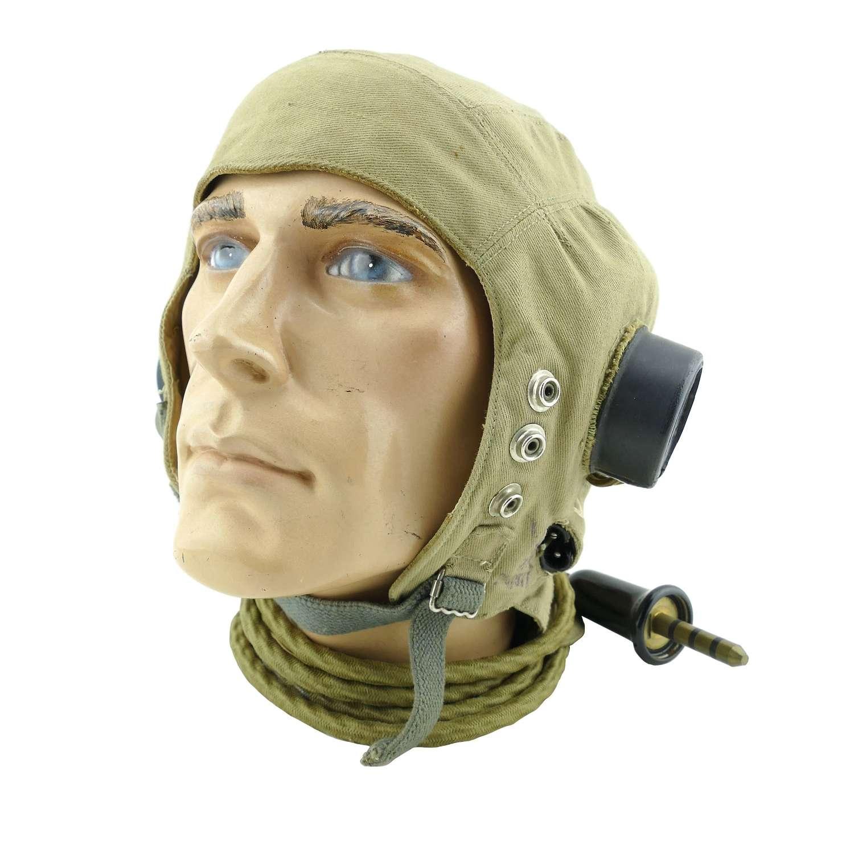 RAF D-type flying helmet, late pattern