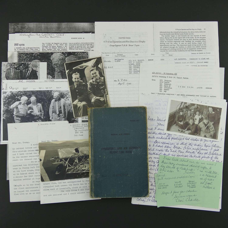 RAF navigator's log book / paperwork