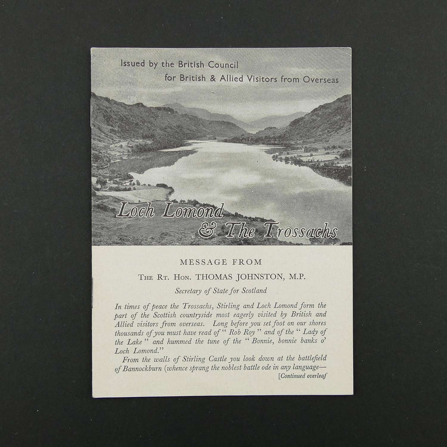 Guide to Loch Lomond & The Trossachs for WW2 visitors