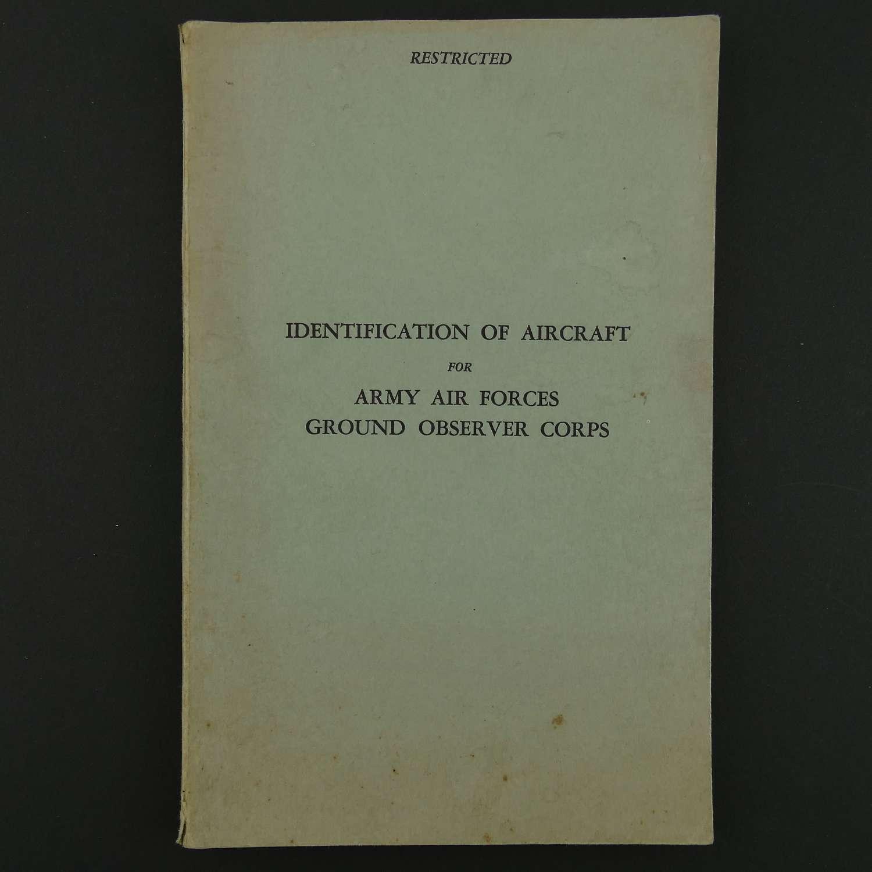 USAAF aircraft identification manual