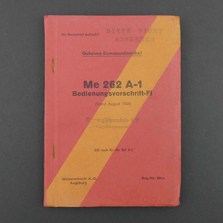 Luftwaffe Me262 instruction manual, 1944