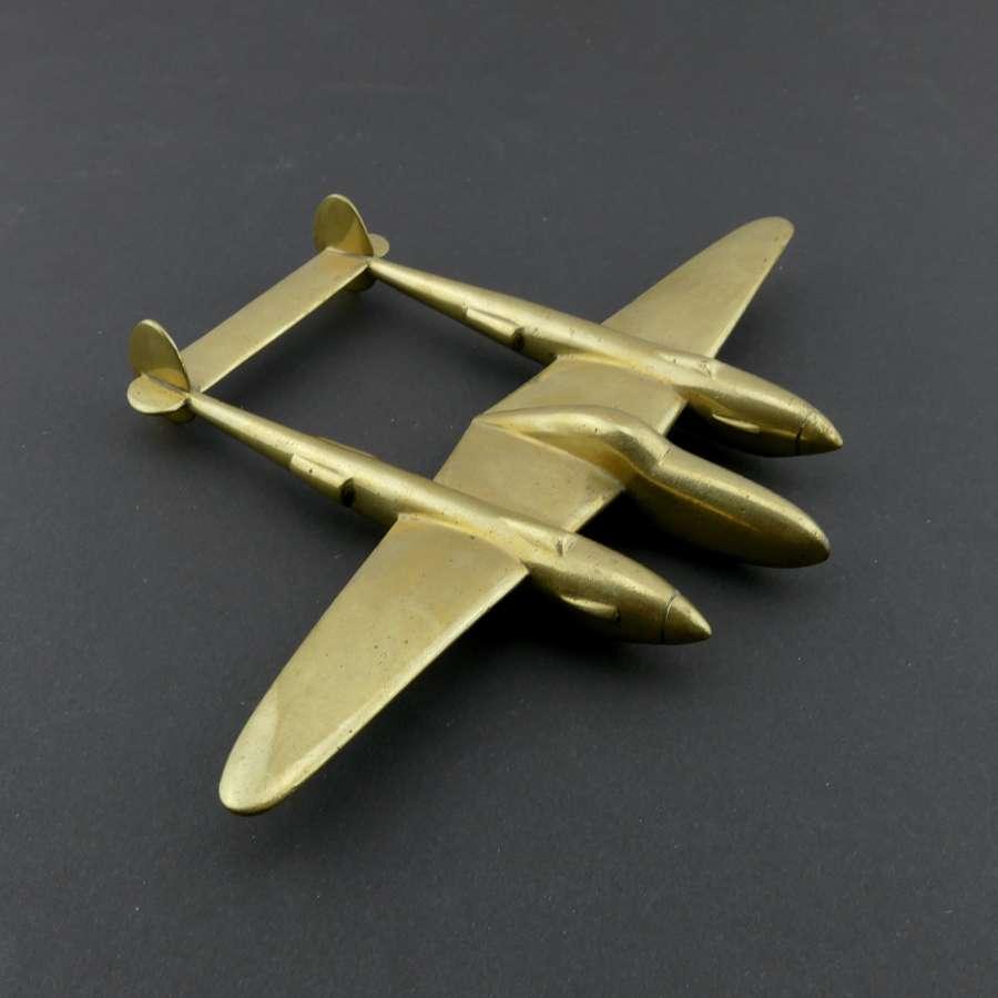 USAAF P-38 Lightning desk model