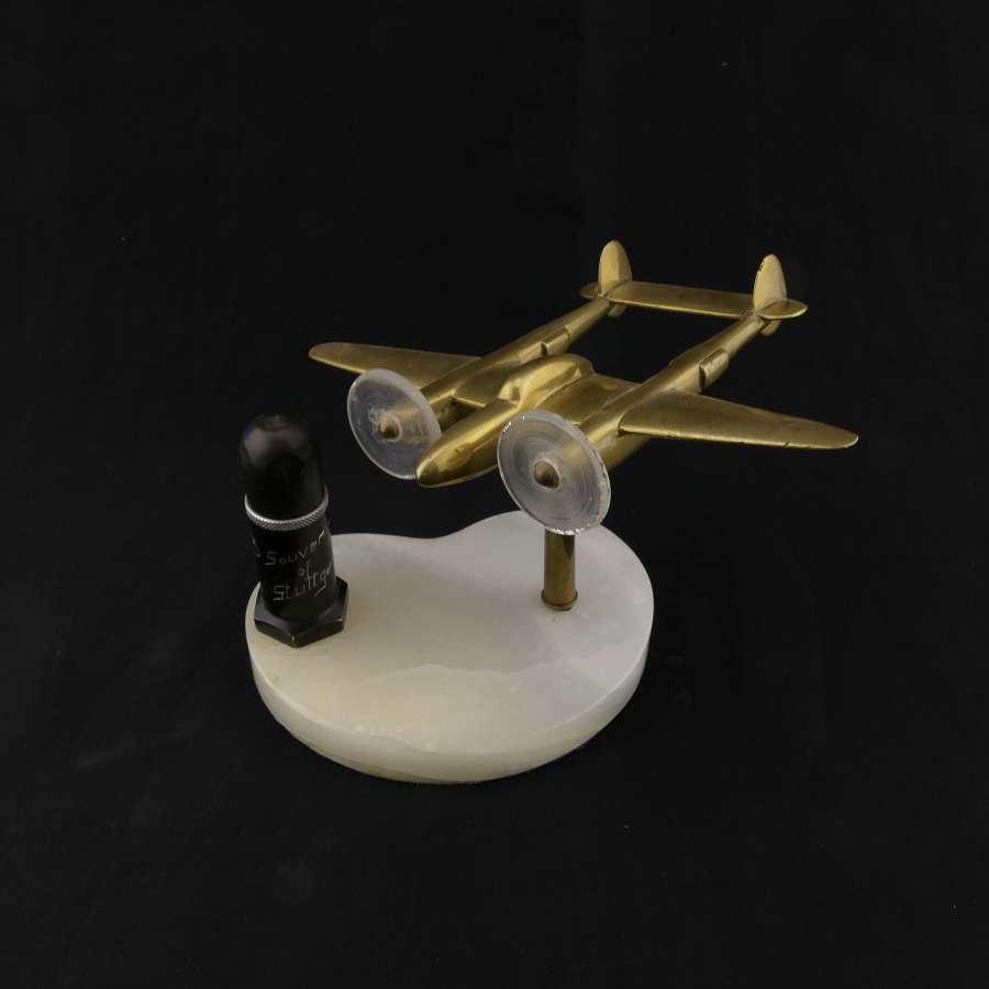 USAAF P-38 Lightning / lighter desk model, 1943