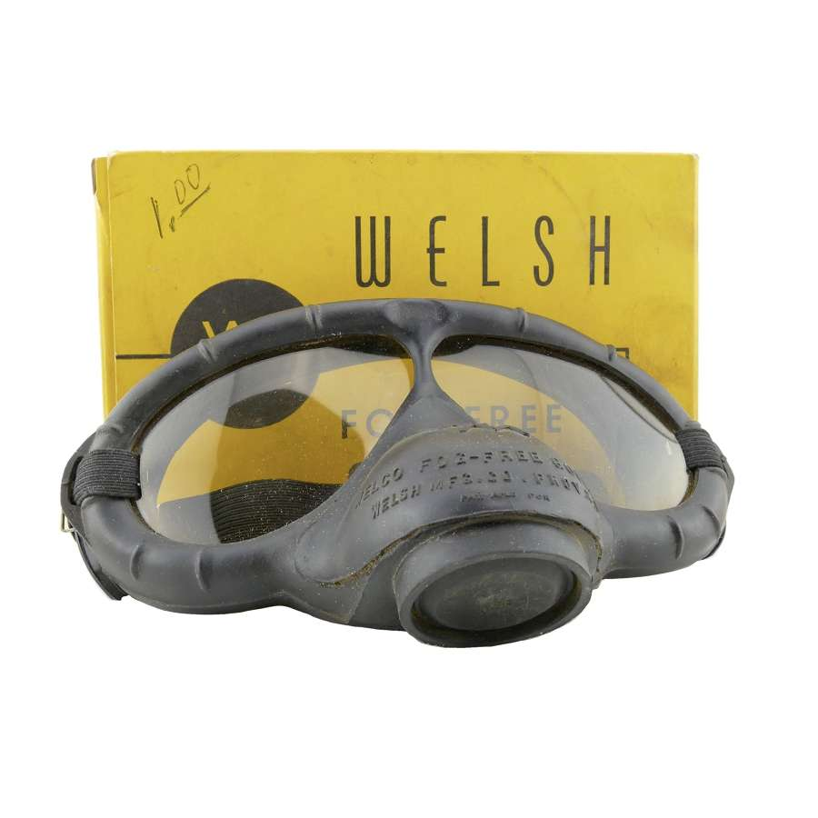Welco 'Fog Free' goggles, boxed