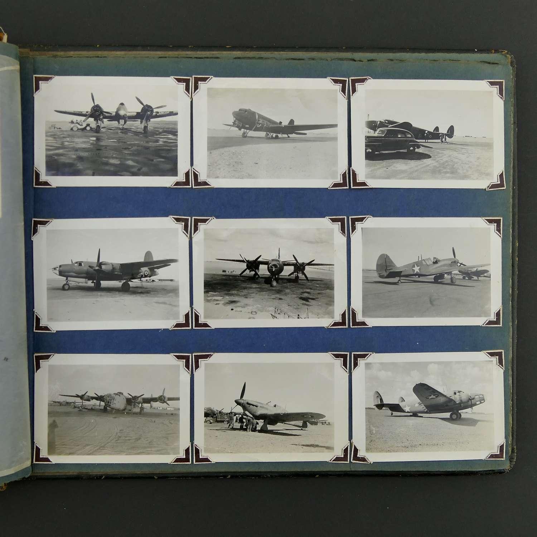 USAAF photograph album and dog-tag
