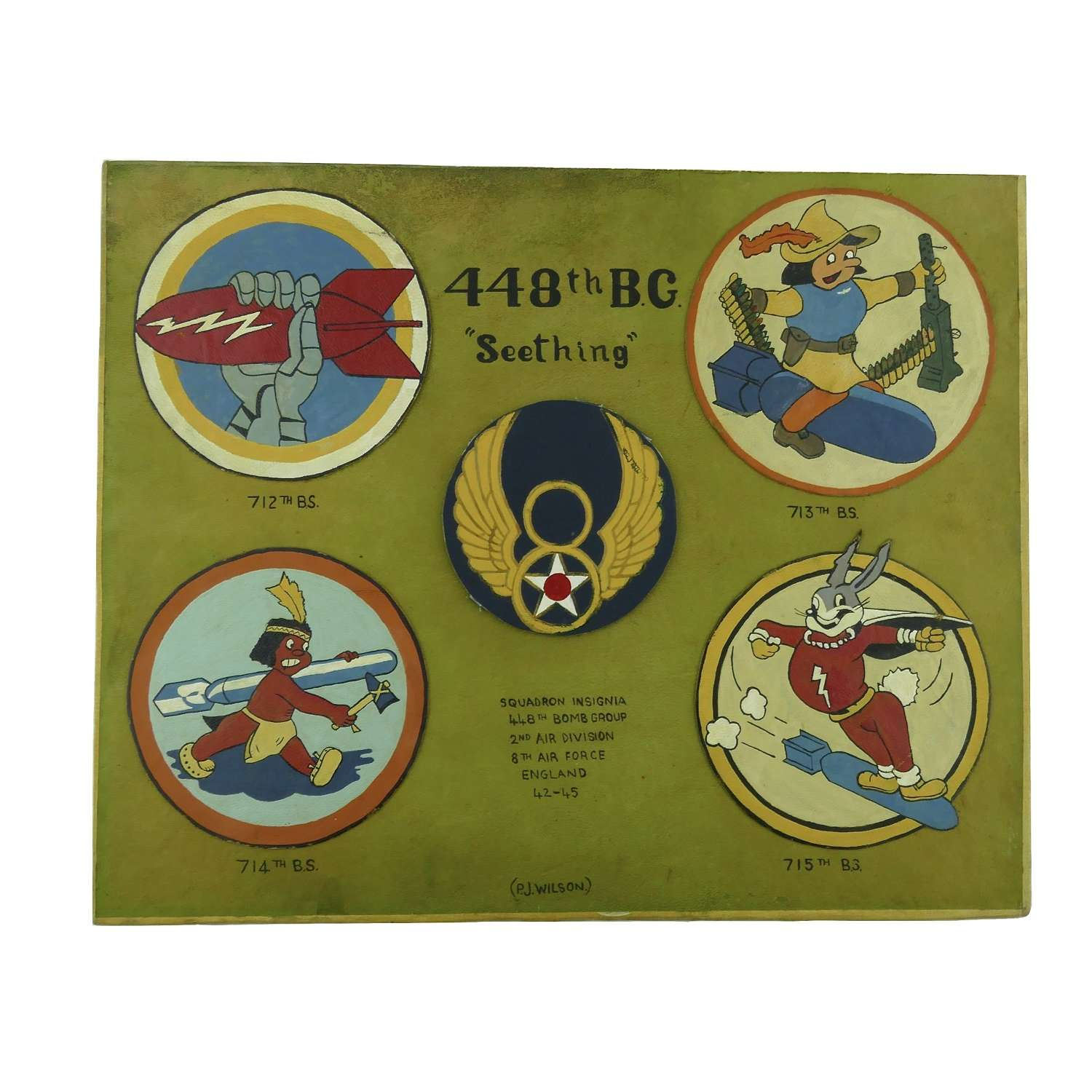 USAAF 488th BG insignia - reproduction