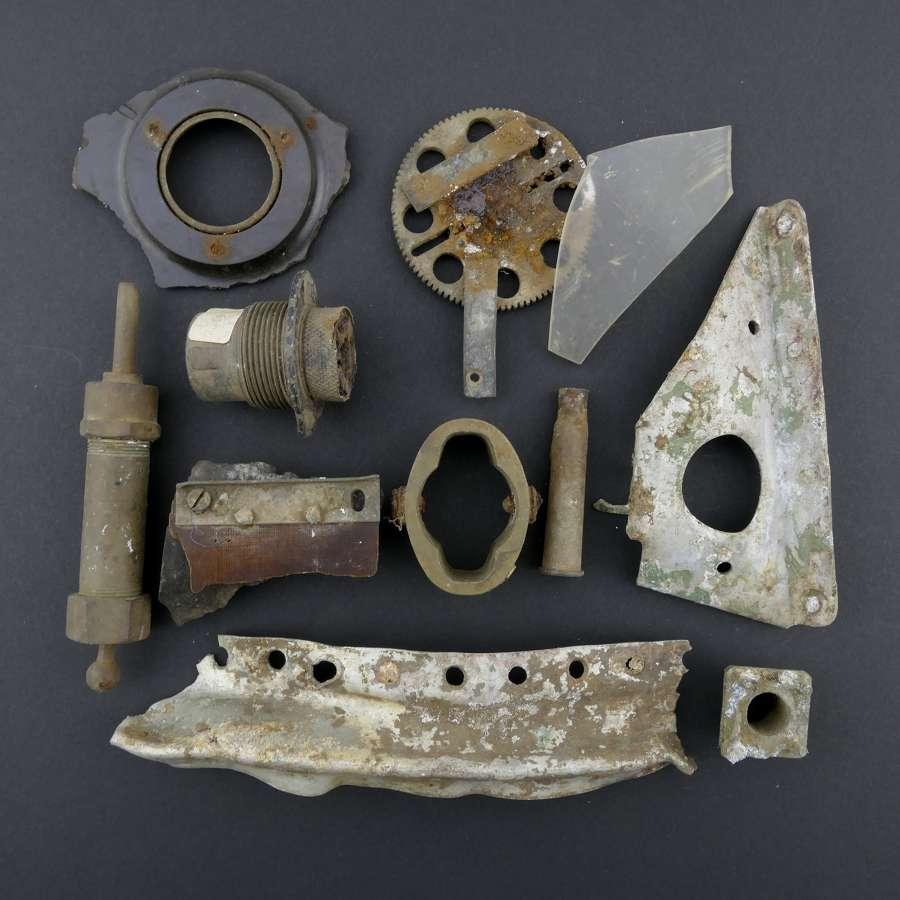 RAF Halifax bomber fragments