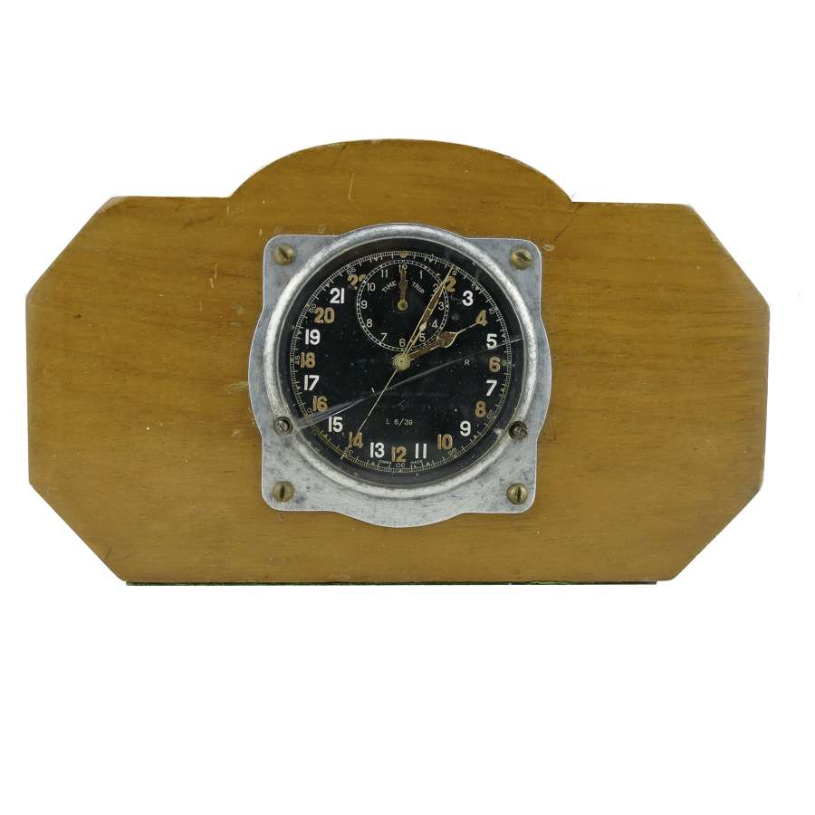 RAF Mk.III aircraft 'time of trip' cockpit clock