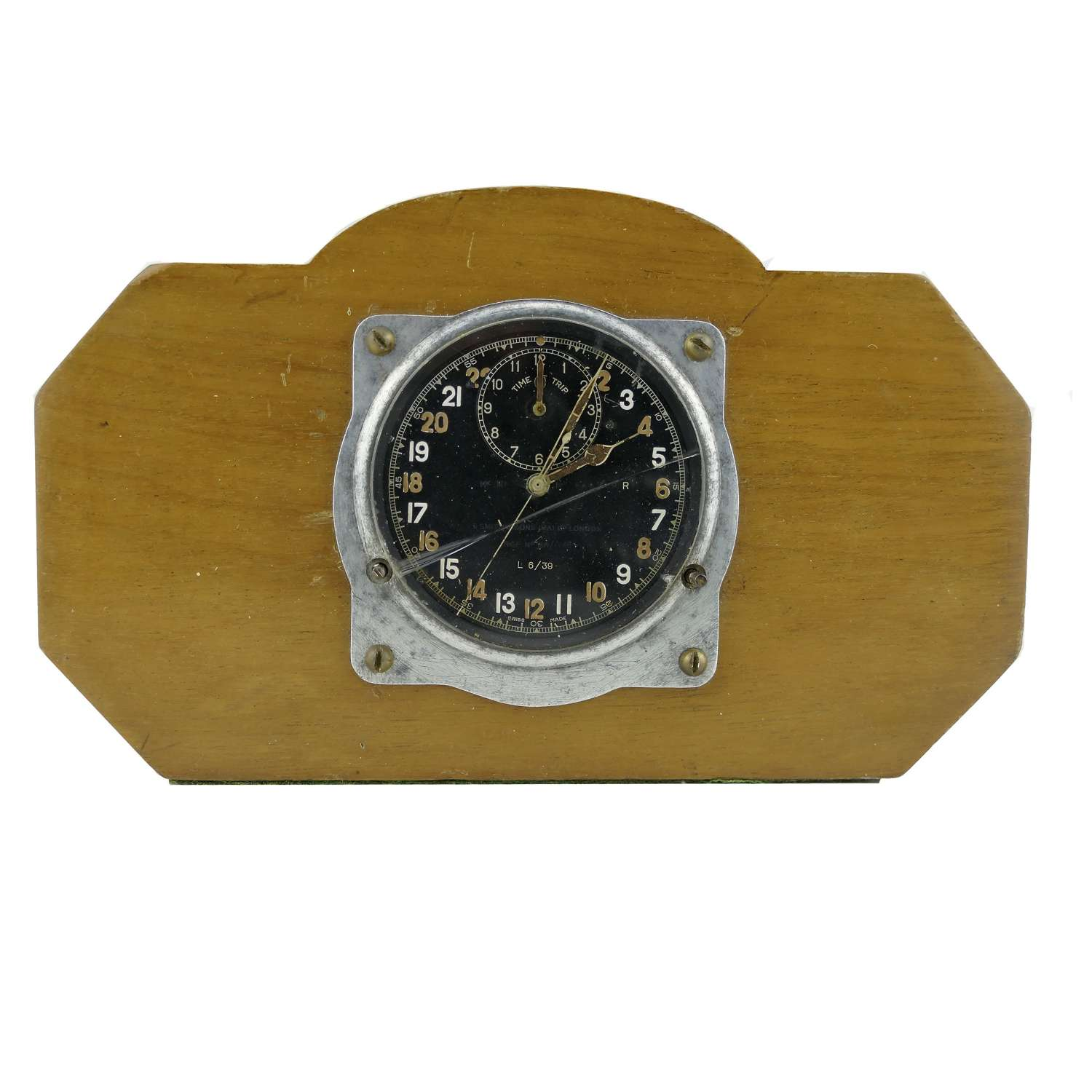 RAF Mk.III aircraft 'time of trip' cockpit clock