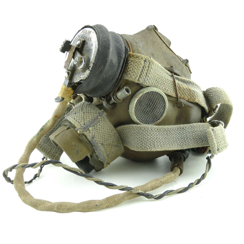 RAF G-type oxygen mask c/w microphone heater