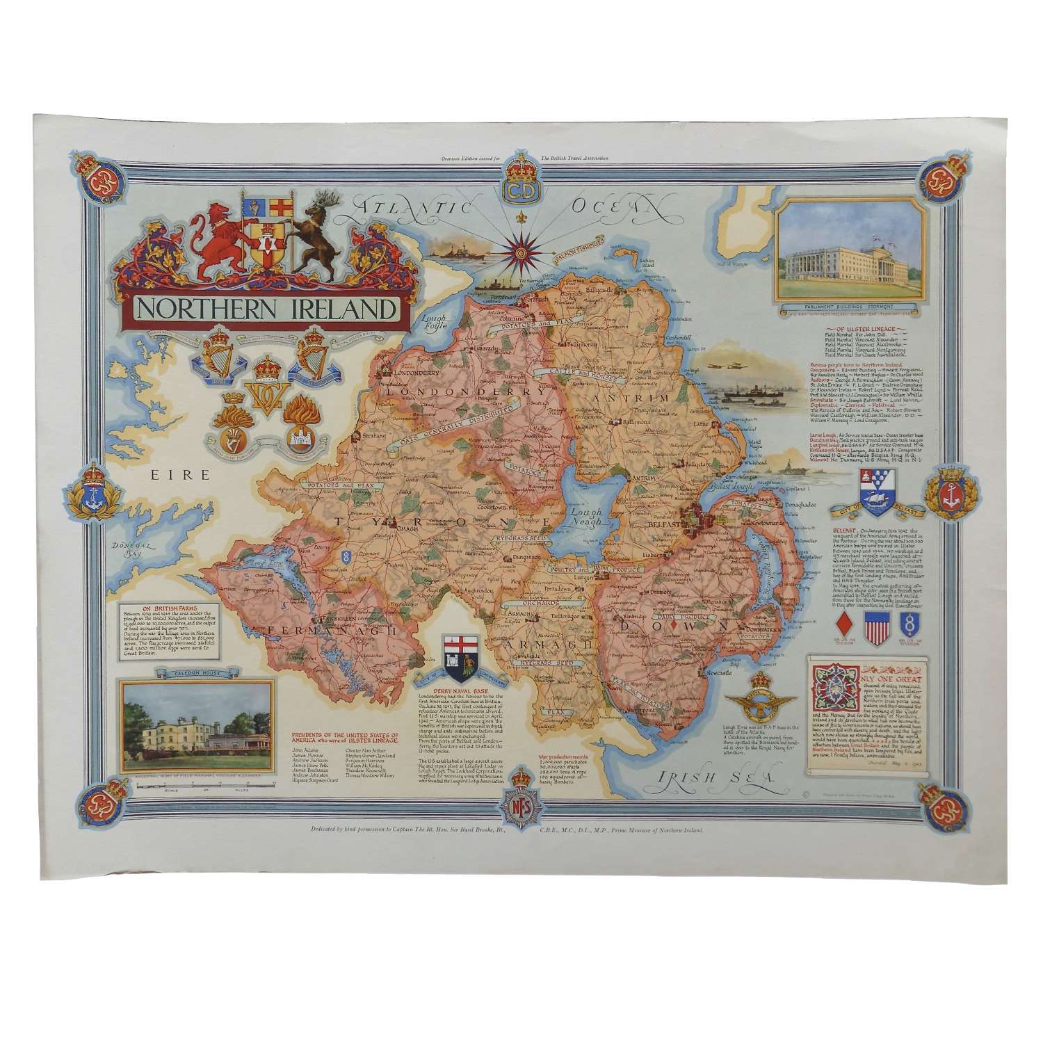 Home Front poster / map of Northern Ireland
