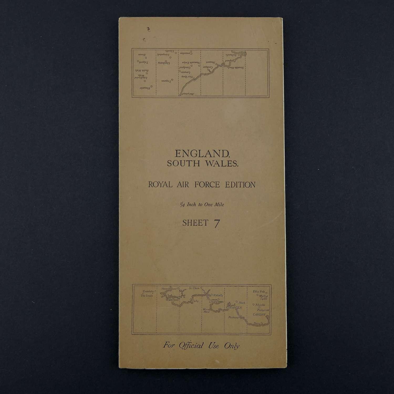 RAF flight map, South Wales