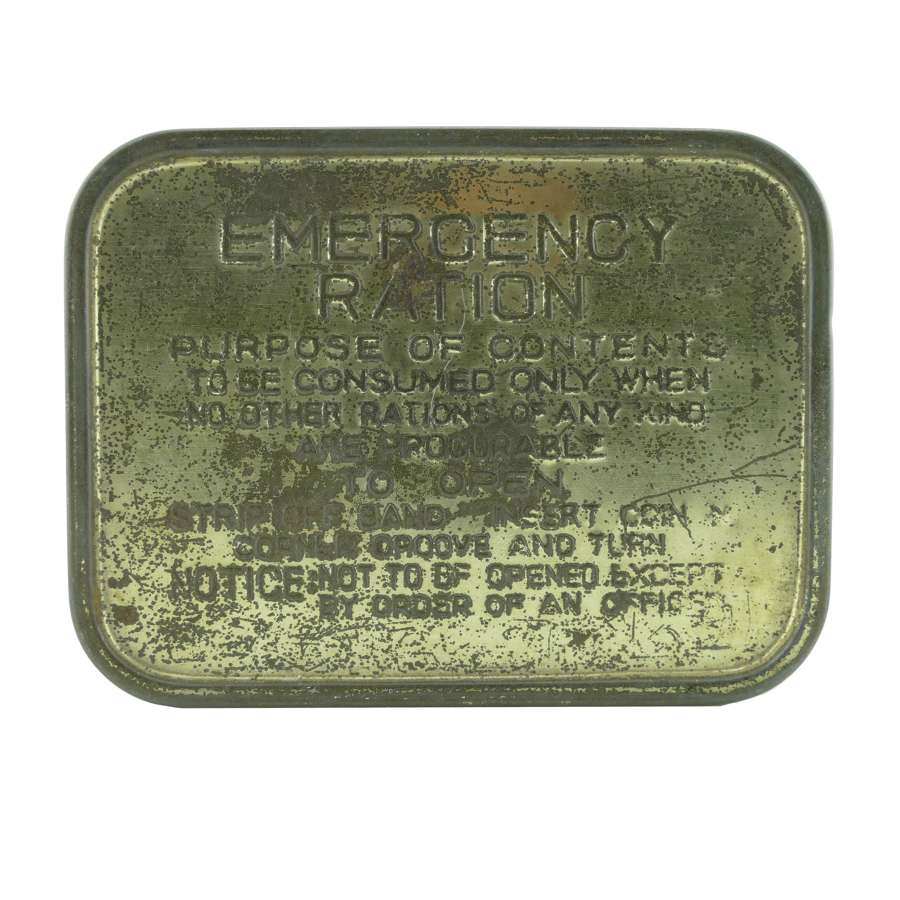 British Emergency Ration tin