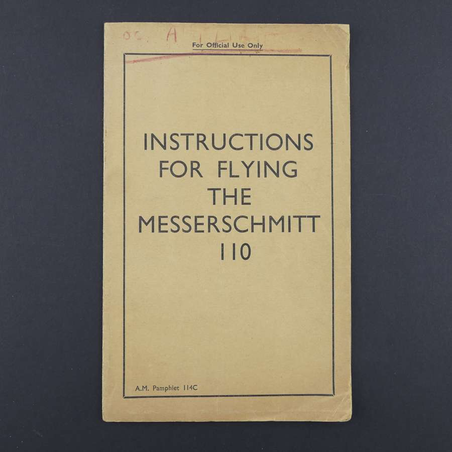 RAF Flying Instructions - Messerschmitt 110