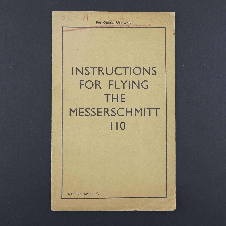 RAF Flying Instructions - Messerschmitt 110