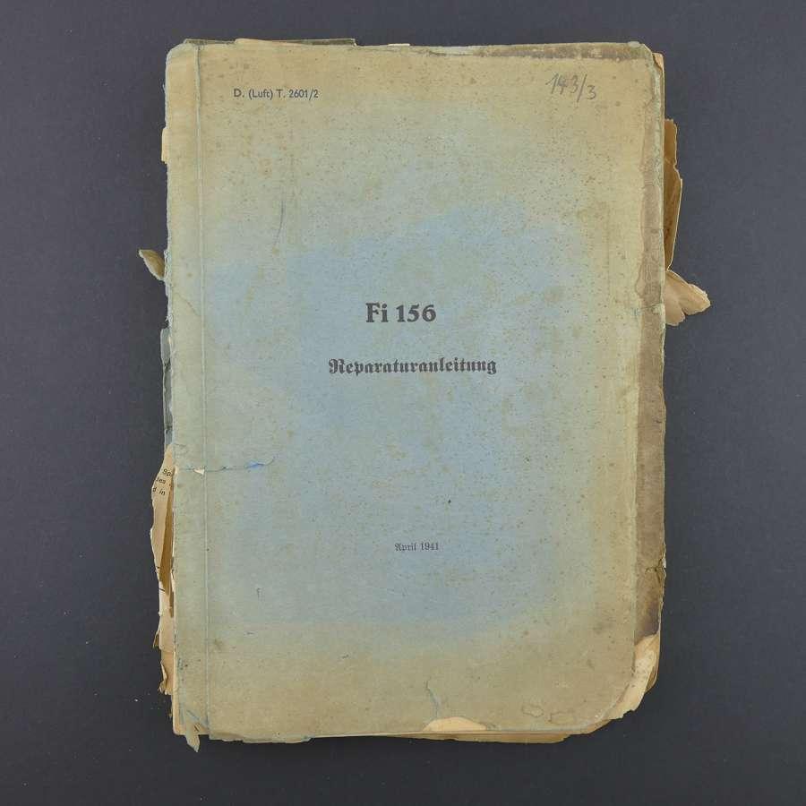 Luftwaffe Fiesler Storch Repair Handbook