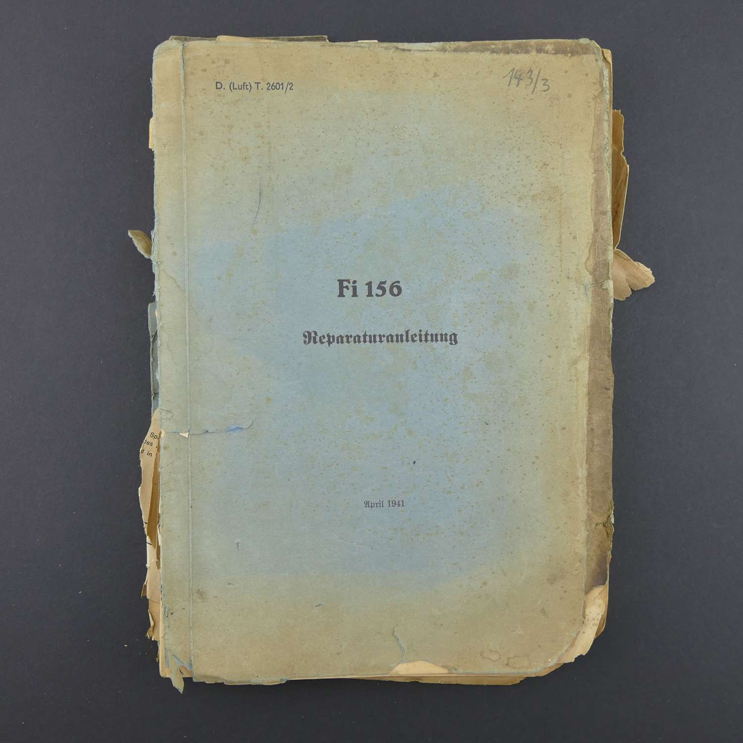 Luftwaffe Fiesler Storch Repair Handbook