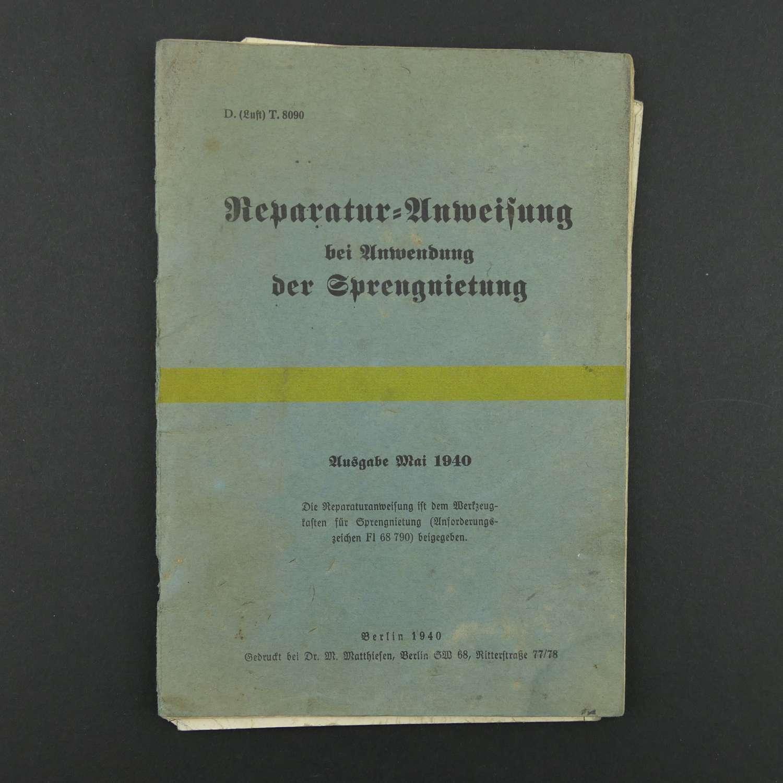 Luftwaffe aircraft repair manual, 1940
