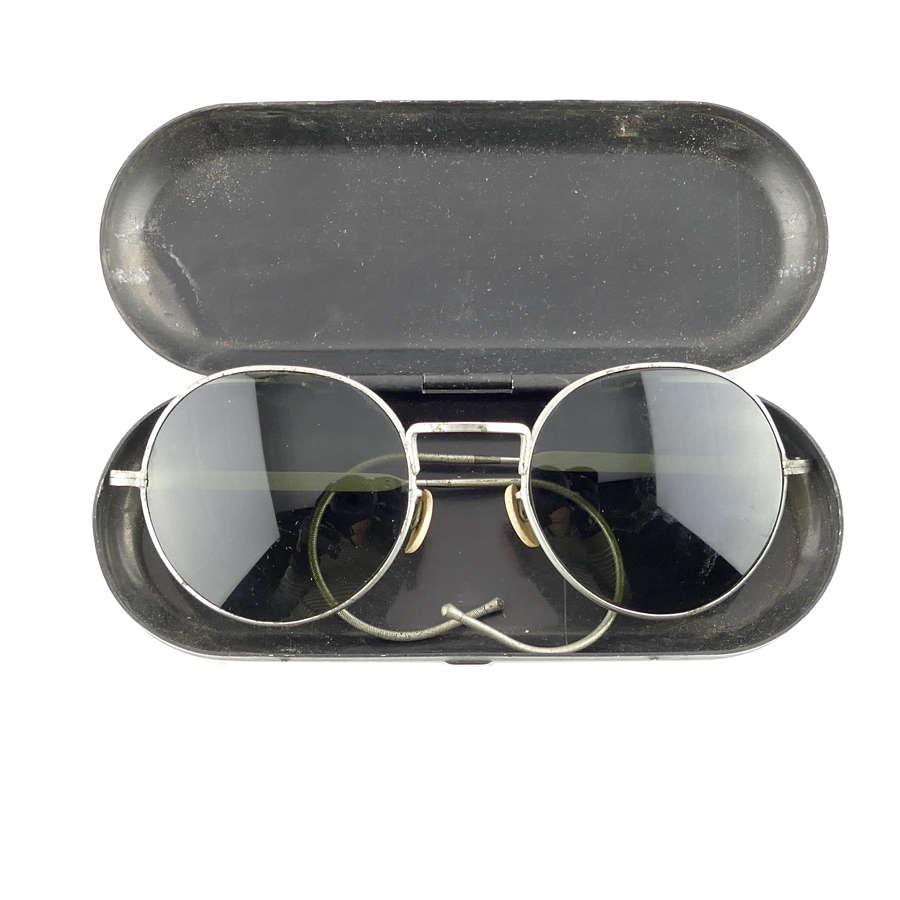 RAF sunglasses, type F, cased
