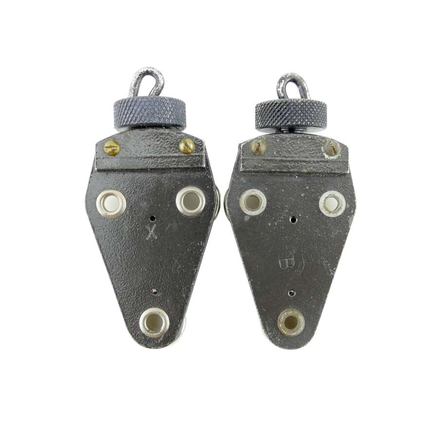 RAF flying helmet hook nuts, pair