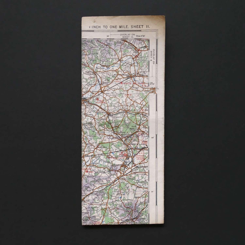 RAF flight map, England, South