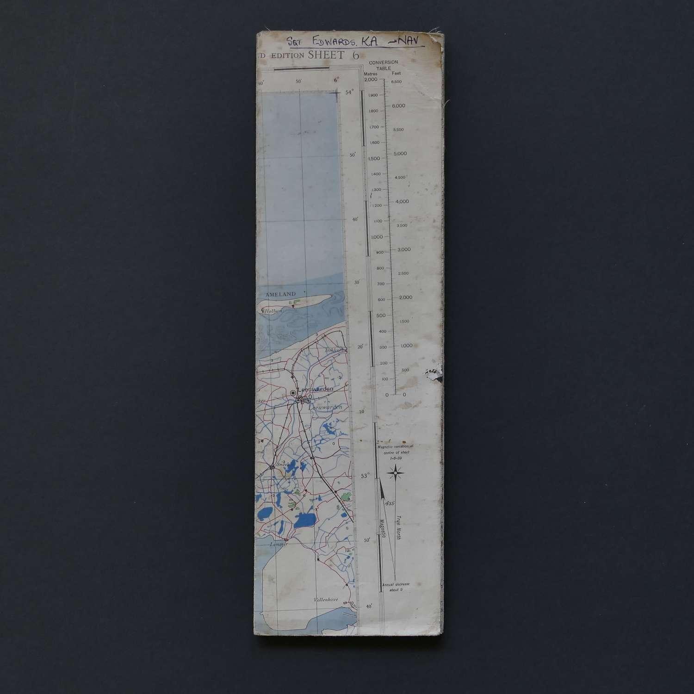 RAF flight map, North Sea
