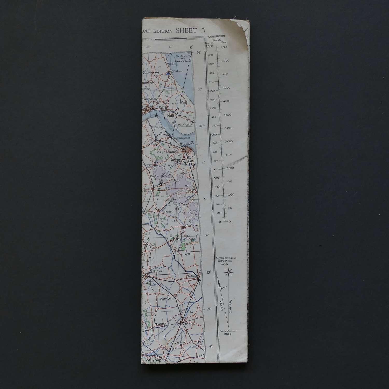 RAF flight map, Midlands & Wales