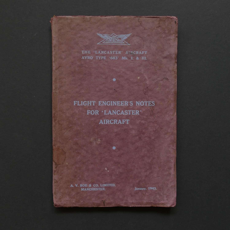 AVRO Lancaster Flight Engineer's Notes