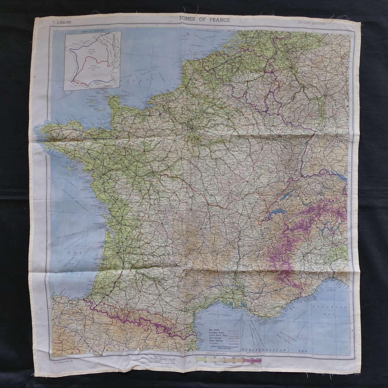 Escape & evasion map, Zones of France