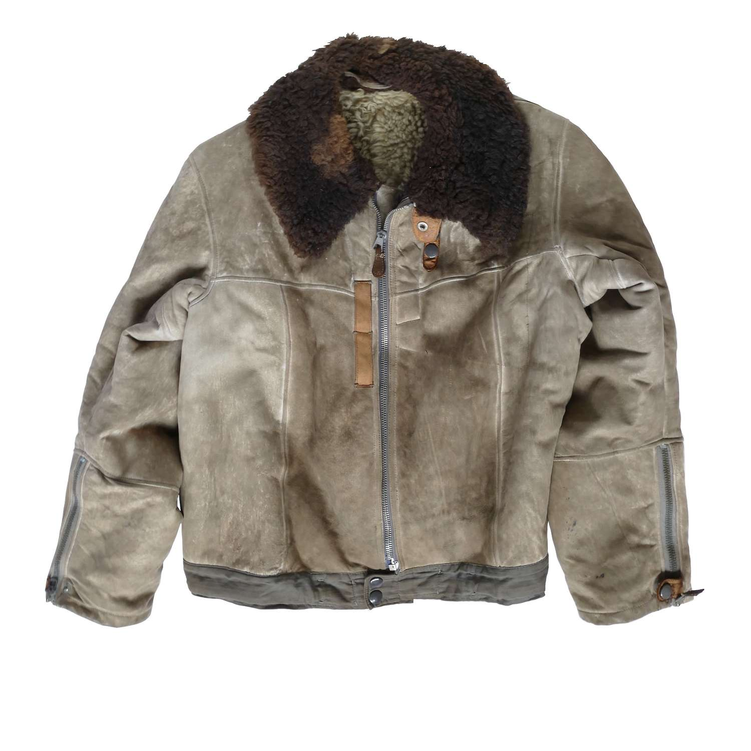 Luftwaffe suede 'channel' flying jacket
