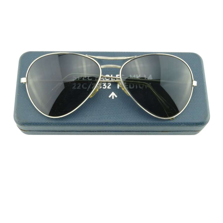 RAF Mk.14 sunglasses, cased - ex AAC pilot