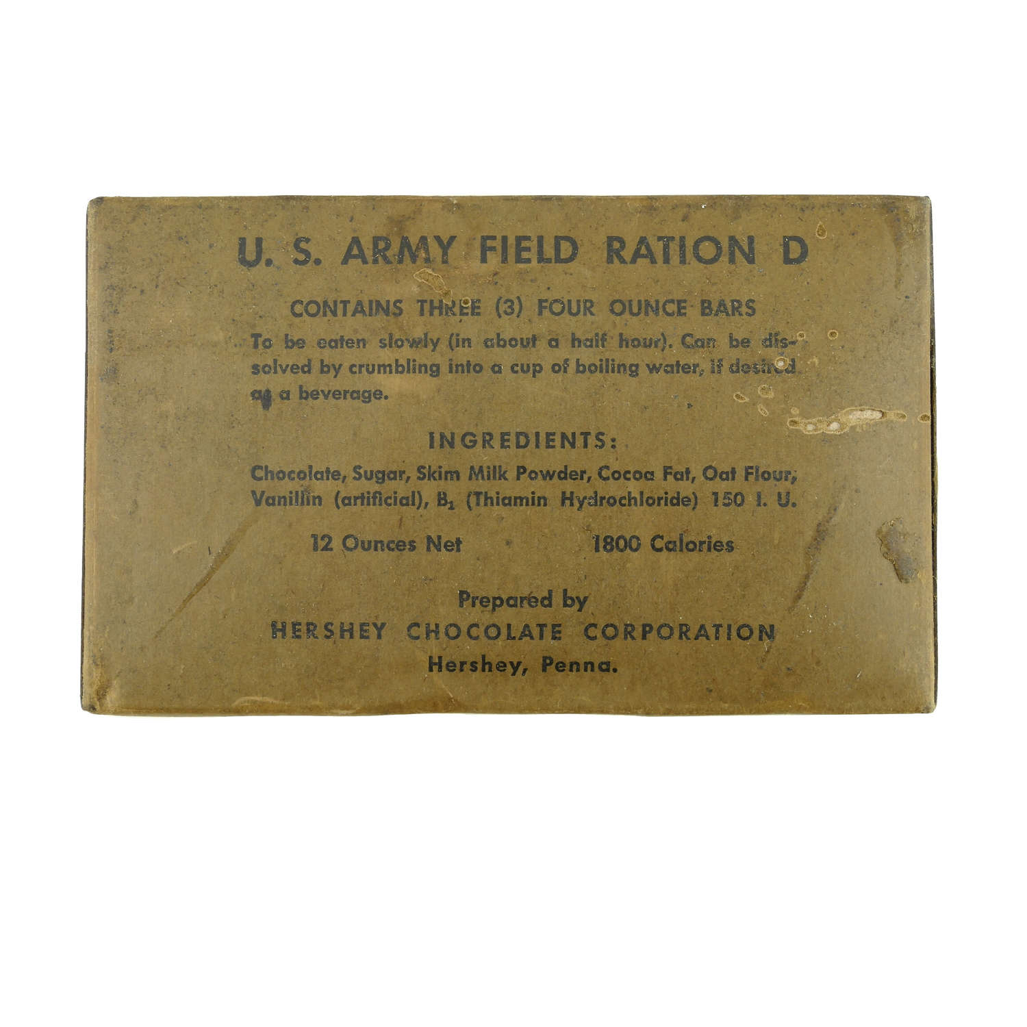 US Army Field Ration Type D, triple pack