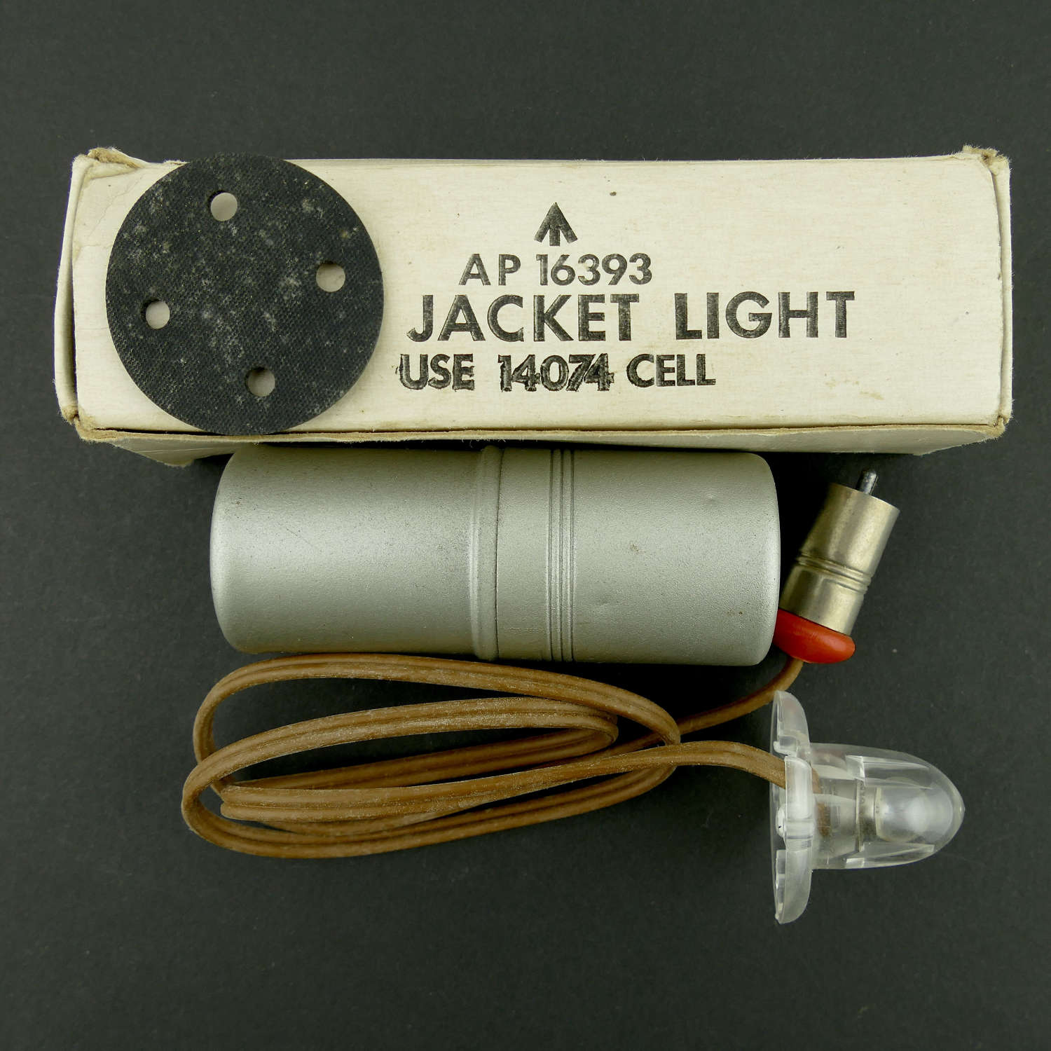RAF life jacket light, boxed