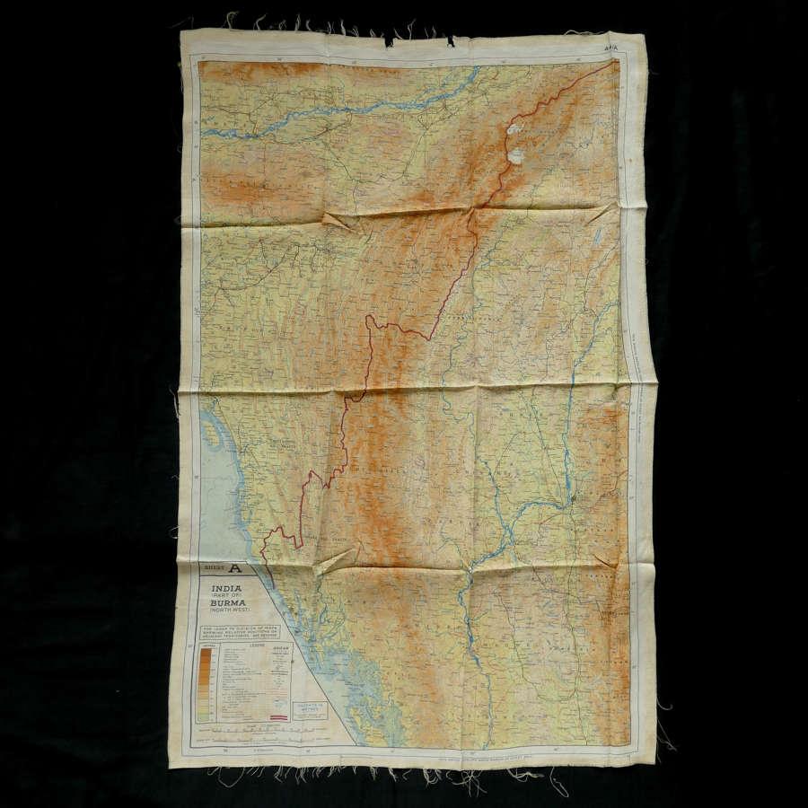 RAF escape & evasion map, 44A/B