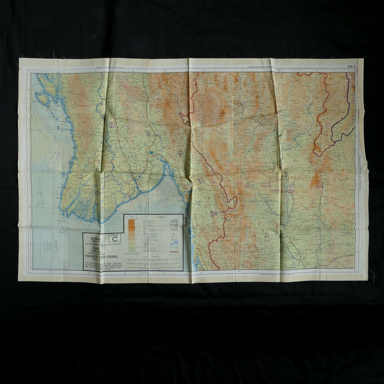 RAF escape & evasion map, 44C/D